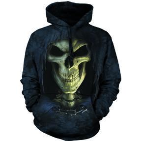 Sweatshirt mit Kapuze Gesicht des Todes