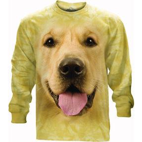 Long-sleeved T-shirt Face of Golden Retriever
