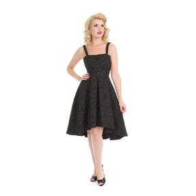 Brokátové retro pin up šaty