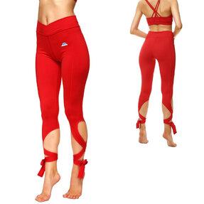 Fitness Leggings mit Bindung Rot