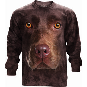 Long-sleeved T-shirt Face of Brown Labrador