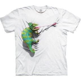Biele tričko Chameleón