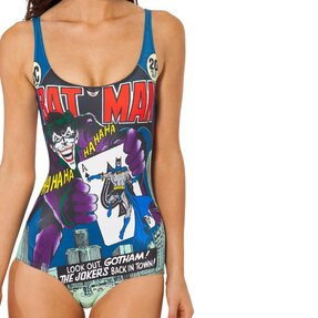 Női egyrészes fürdőruha Joker és kártyája