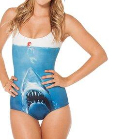 Dámské celé plavky Žralok vs. mořská panna