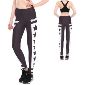 Női elasztikus leggings Fekete csillagok