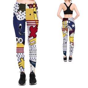 Női elasztikus leggings Pop Art