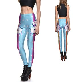 Női elasztikus leggings Rainbow Unicorn