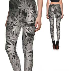 Női elasztikus leggings Szürke Mary Jane