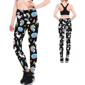 Női elasztikus leggings Space Unicorn