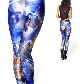 Női elasztikus leggings Távoli galaxis