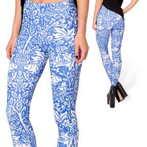 Női elasztikus leggings Mintás rét