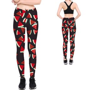 Női elasztikus leggings Watermelon Pattern