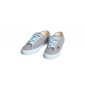 Dámské plátěné tenisky z konopí šedo-modré