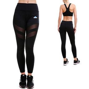Női hálós sportos leggings - fekete