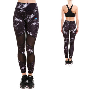 Ladies' Sport Mesh Leggings - Marble