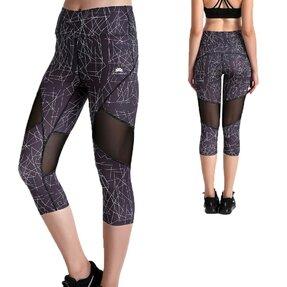 Női sportos capri leggings hálós résszel Geometria