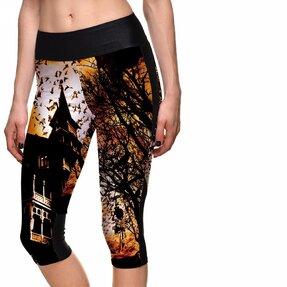 Női sportos capri leggings Kísértetház