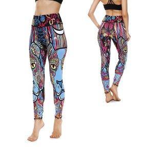 Női sportos elasztikus leggings Animal Mandala