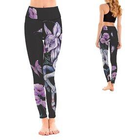 Damen Sport Leggings Elastisch Bambi