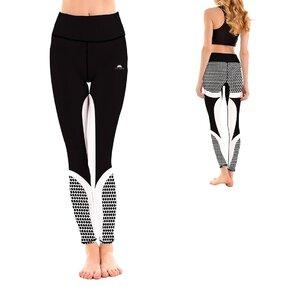 Damen Sport Leggings Elastisch Black Honeycomb