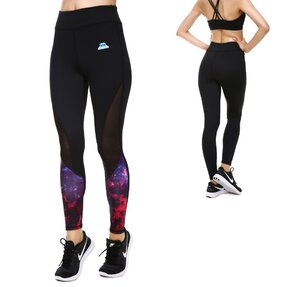 Női sportos elasztikus leggings Galaxy