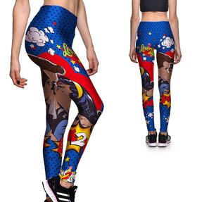 Női sportos elasztikus leggings Love 2 love