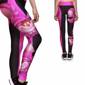Női sportos elasztikus leggings Vigyori macska