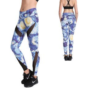 Női sportos elasztikus leggings Starry Nights