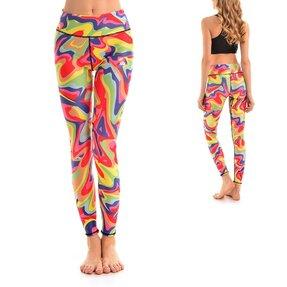 Női sportos elasztikus leggings Tyedye