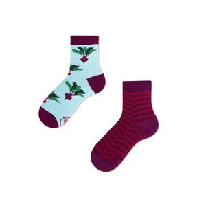 Dětské veselé ponožky Červená řepa