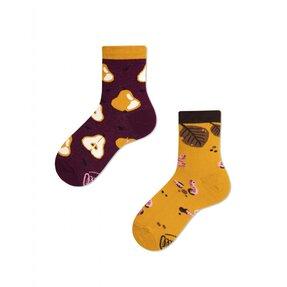 Dětské veselé ponožky Podzim a hrušky