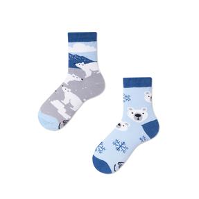 Dětské veselé ponožky Medvěd bílý
