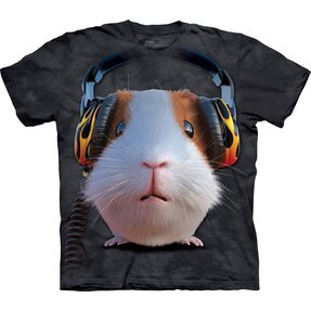 Children T-shirt with Short Sleeve DJ Guinea Pig