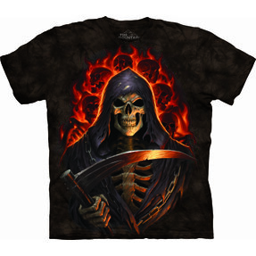 T-shirt La Morte in fiamme