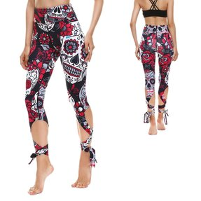 Fitness Leggings mit Bindung Deadly Garden