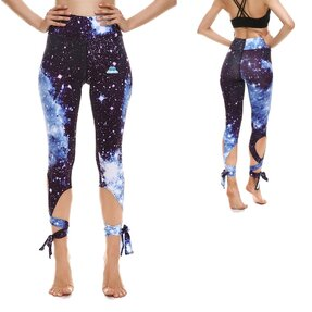 Fitness Leggings mit Bindung Galaxy