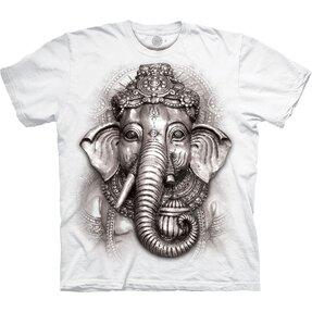 Bílé tričko Ganesha