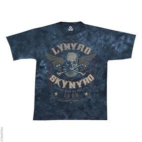 Modré batikované hudobné tričko Lynyrd Skynyrd Gimme back my bullets
