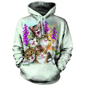Mikina s kapucí Bláznivé kočky