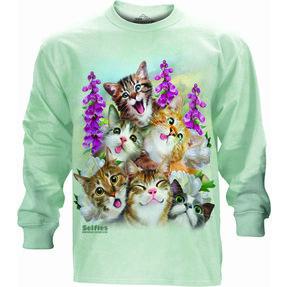 Tričko s dlouhým rukávem Bláznivé kočky