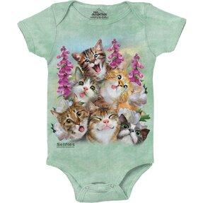 Baby Strampler Selfie Liebliche Katzen