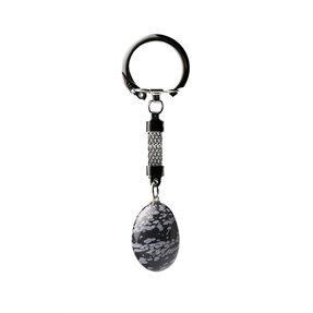 Kľúčenka Obsidián vločkový - kameň odvahy