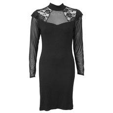 Čipkované šaty s dlhým rukávom Basic