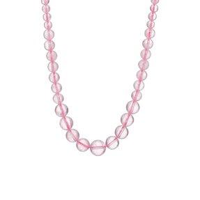 Rózsakvarc gyöngyös nyaklánc - a szerelem köve