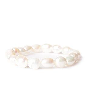 Fehér folyó gyöngy kakötő - a szépség köve