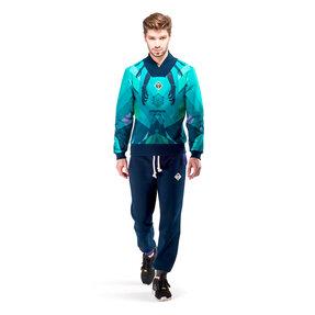 Férfi kék pamut pulóver Uránusz