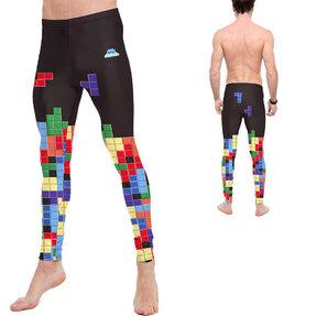 Pánské sportovní legíny Tetris