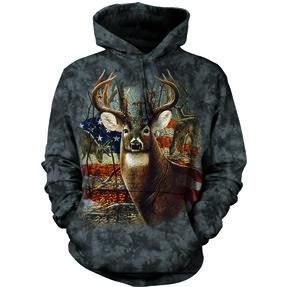 Hoodie Deer with Flag