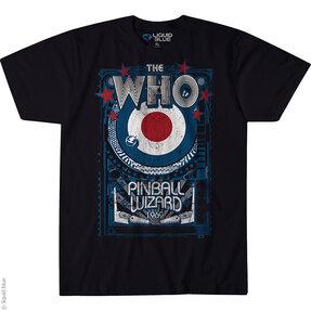 Čierne hudobné tričko The Who Pinball wizard