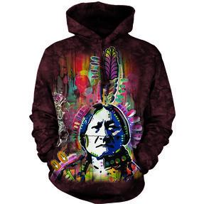 Sweatshirt mit Kapuze Zeichentrick-Indianer